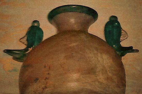 Vase ancien en verre de Murano, provenance : Venise